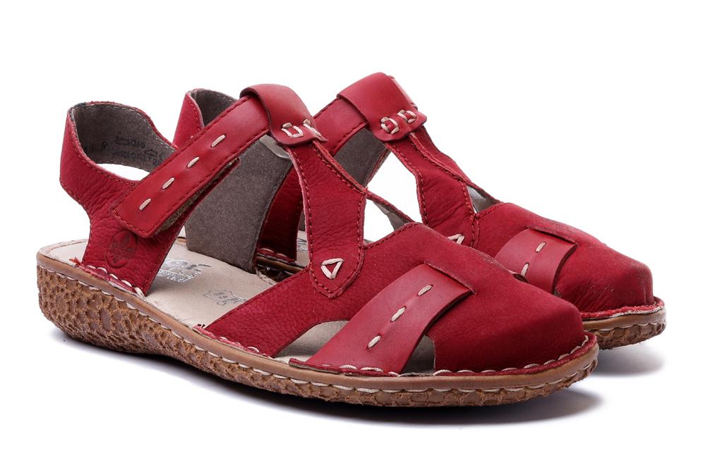 RIEKER M0972-33 rot, sandały damskie, sklep internetowy e-kobi.pl