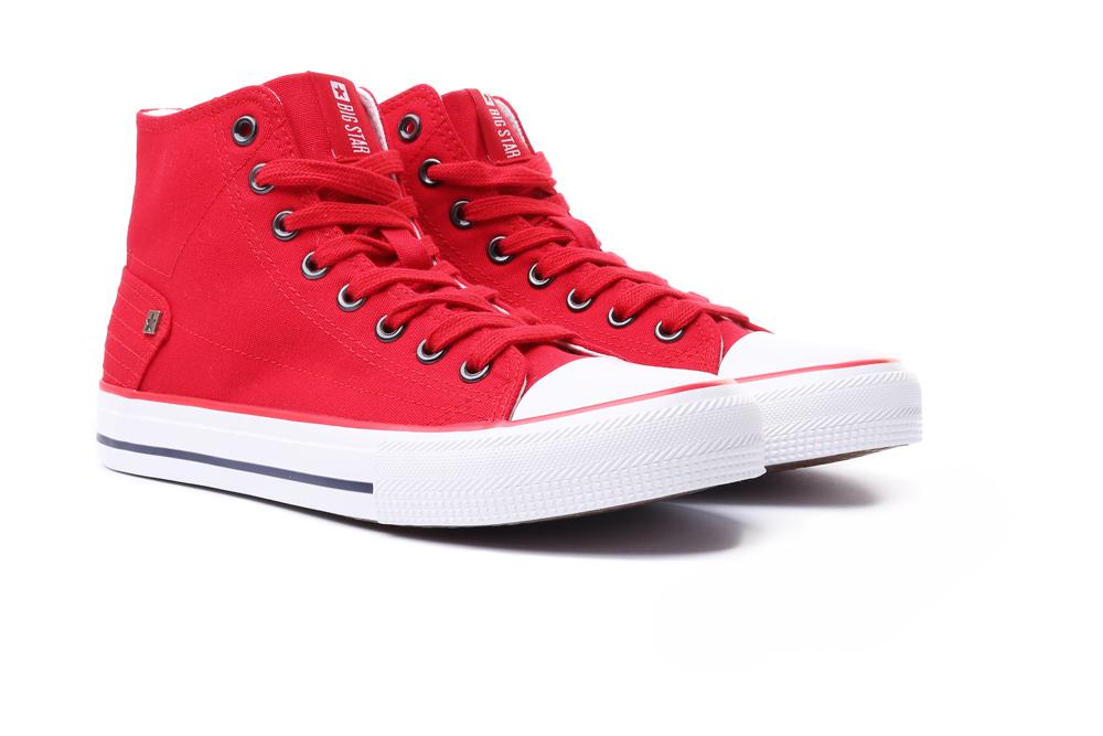 BIG STAR DD274334 czerwony, trampki damskie, sklep internetowy e-kobi.pl