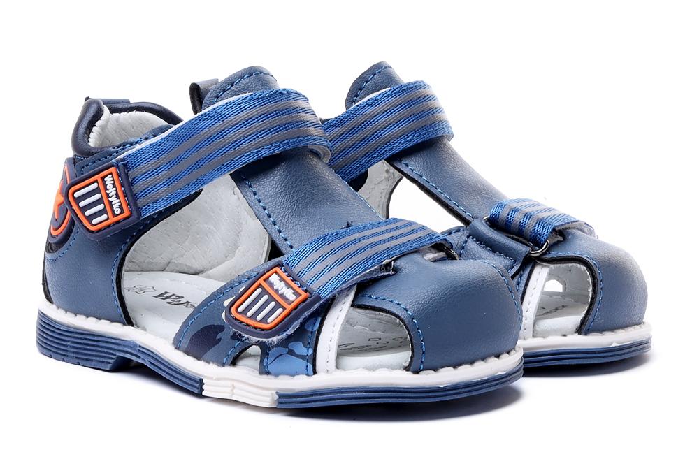 WOJTYŁKO 1S40421 niebieski, sandały dziecięce, rozmiary 20-, sklep internetowy e-kobi.pl