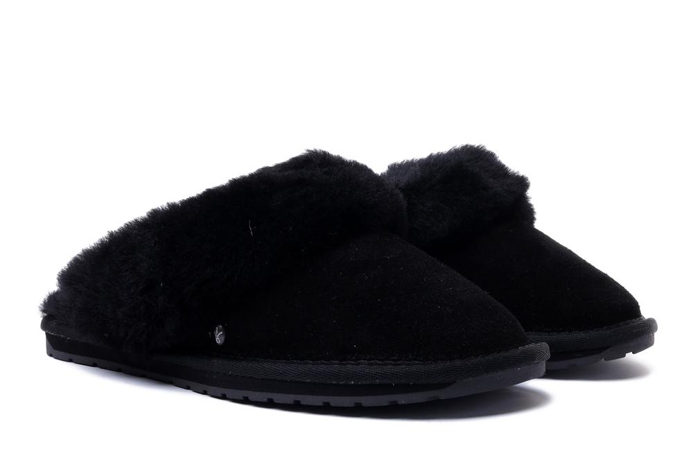 EMU AUSTRALIA W10015 JOLIE black, kapcie damskie, sklep internetowy e-kobi.pl