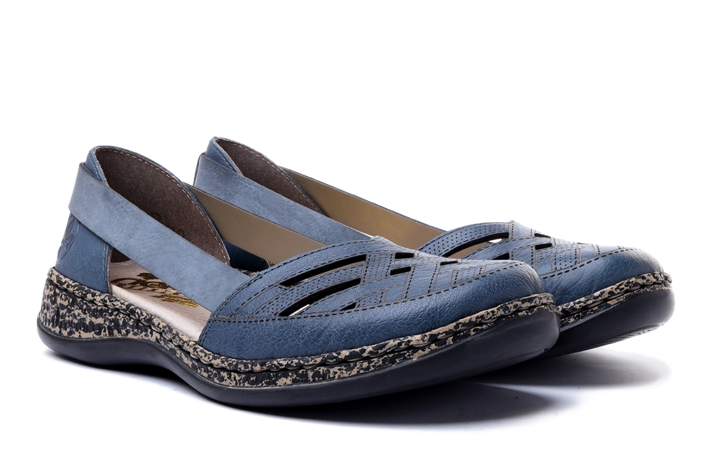 RIEKER 46358-12 blue, sandały damskie, sklep internetowy e-kobi.pl