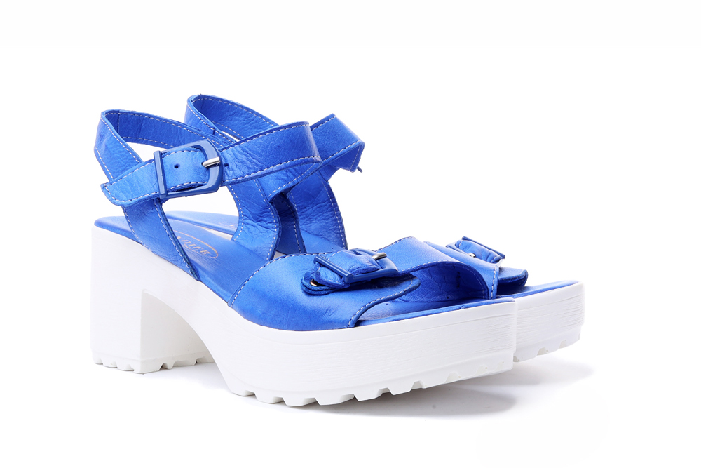 LANQIER 36C1021 niebieski, sandały damskie, sklep internetowy e-kobi.pl