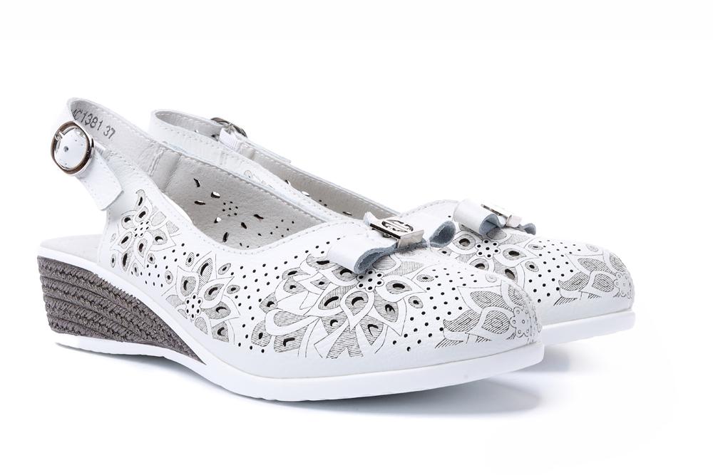 LANQIER 44C1381 biały, sandały damskie, sklep internetowy e-kobi.pl