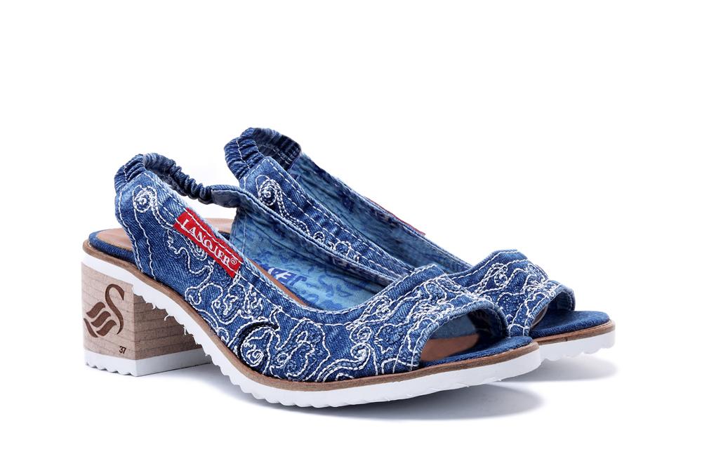 LANQIER 44C0122 jeans, sandały damskie, sklep internetowy e-kobi.pl