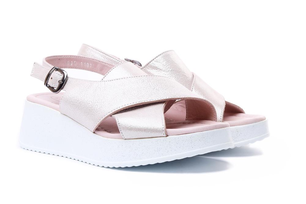 LANQIER 44C1107 beige, sandały damskie, sklep internetowy e-kobi.pl