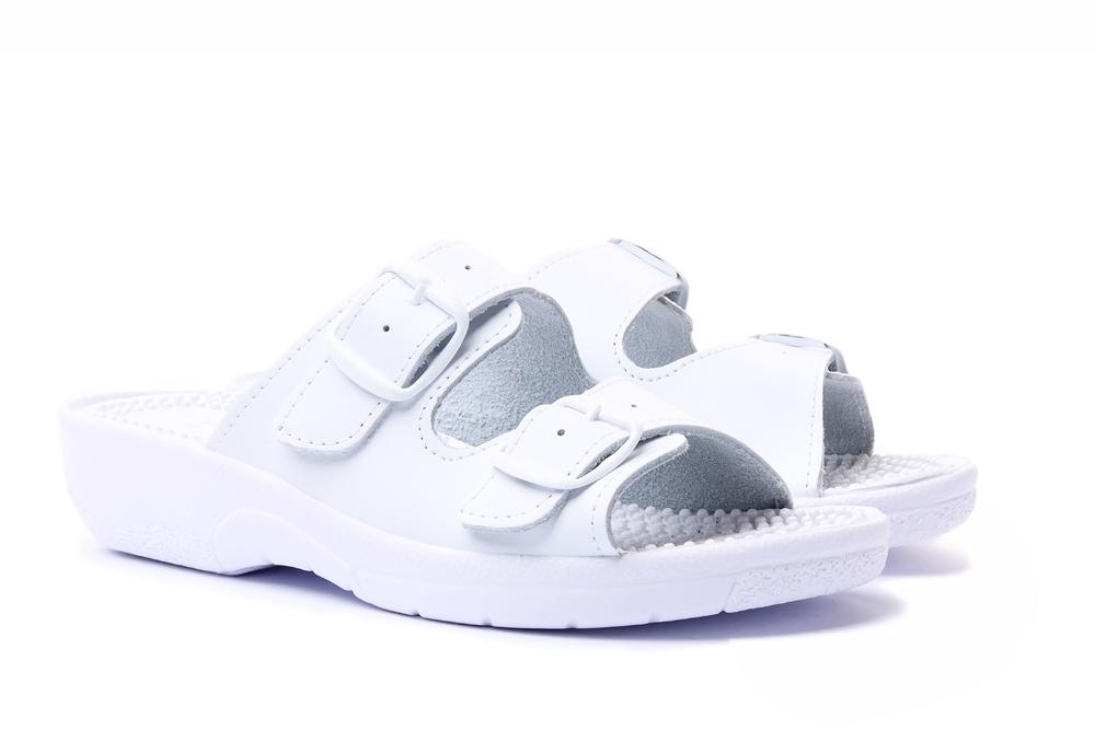 COMFOOTY NADIA white, klapki profilaktyczne damskie, sklep internetowy e-kobi.pl