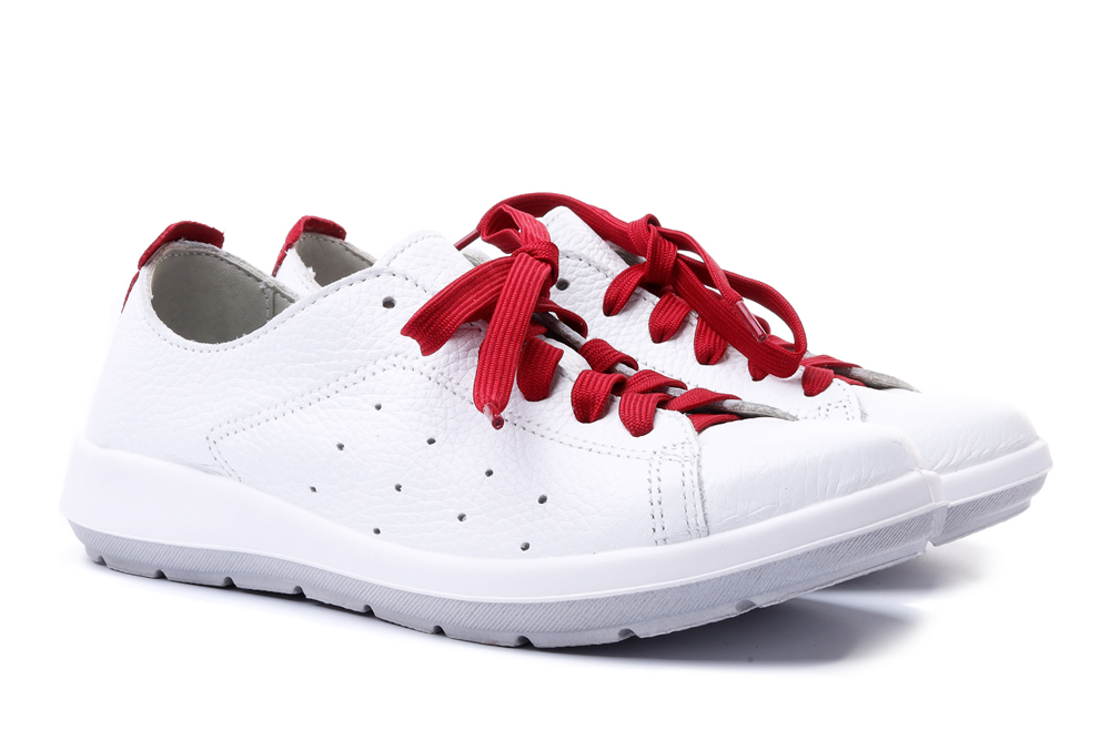 BEFADO DR ORTO 156D 008 biało-czerwony, półbuty profilaktyczne damskie, sklep internetowy e-kobi.pl