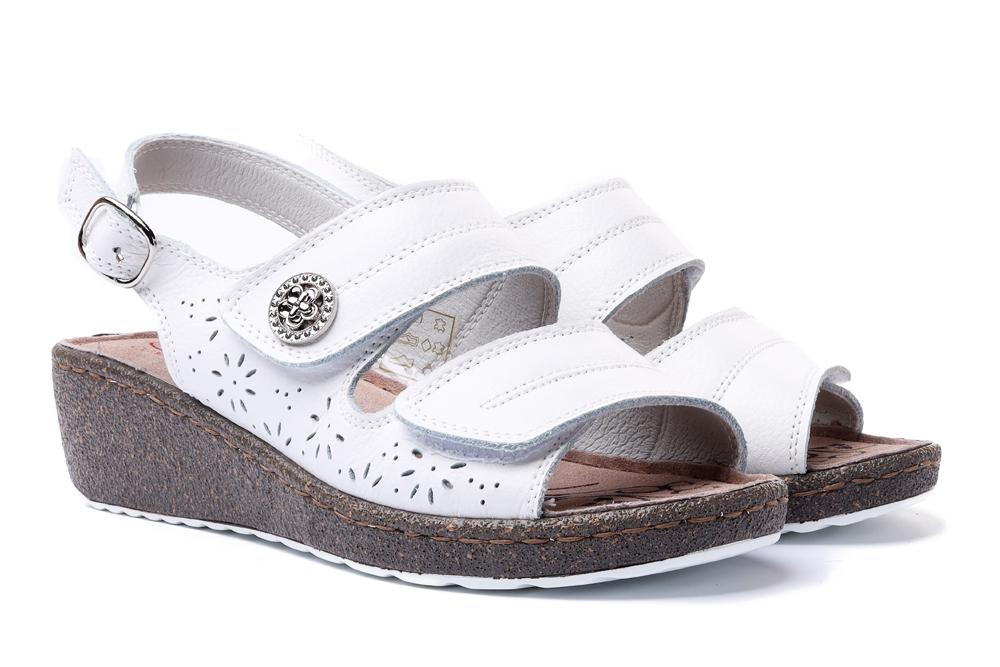 LANQIER 44C1466 biały, sandały damskie, sklep internetowy e-kobi.pl