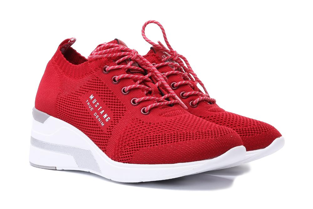 MUSTANG 46C0002 czerwony, półbuty, sneakersy damskie, sklep internetowy e-kobi.pl