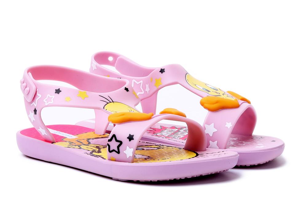 IPANEMA 26372 LOONEY TUNES BABY 20988 pink/pink/beige, sandały dziecięce, rozmiary 21-, sklep internetowy e-kobi.pl