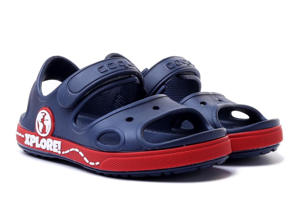 COQUI 8862 YOGI navy/red, sandały dziecięce, rozmiary 28,5-, sklep internetowy e-kobi.pl