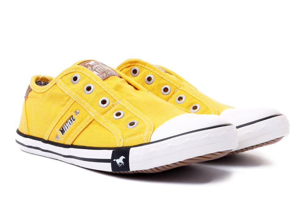 MUSTANG 44C0050 żółty, tenisówki damskie, sklep internetowy e-kobi.pl
