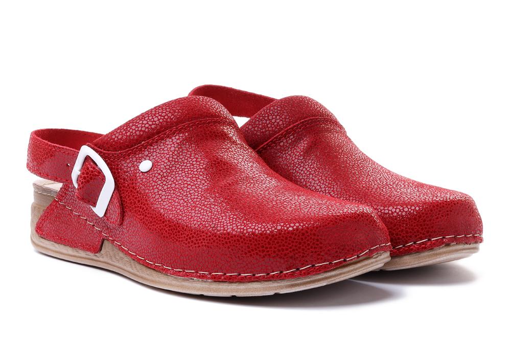 SOLO 0166 czerwony, sandały damskie, sklep internetowy e-kobi.pl