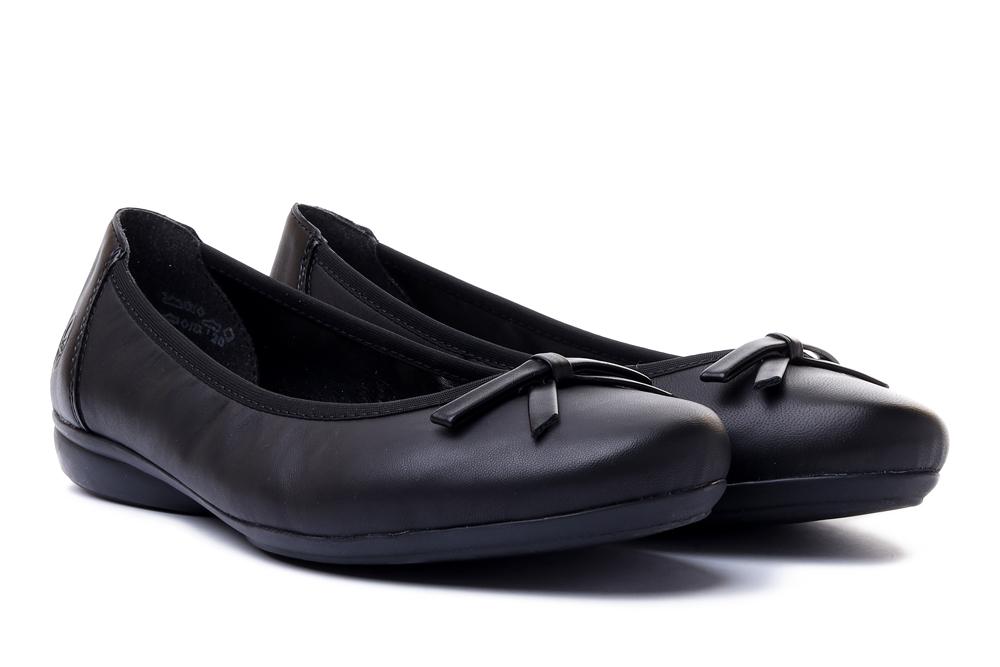RIEKER L8352-01 czarny, baleriny damskie, sklep internetowy e-kobi.pl