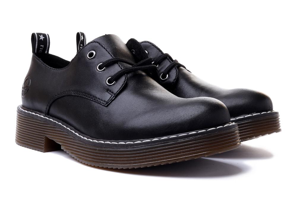 RIEKER Sneaker 50010-00 black, półbuty damskie, sklep internetowy e-kobi.pl