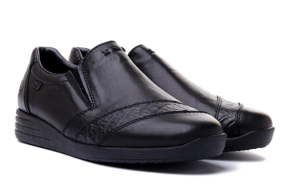 RIEKER 58462-00 black, półbuty/mokasyny damskie, sklep internetowy e-kobi.pl