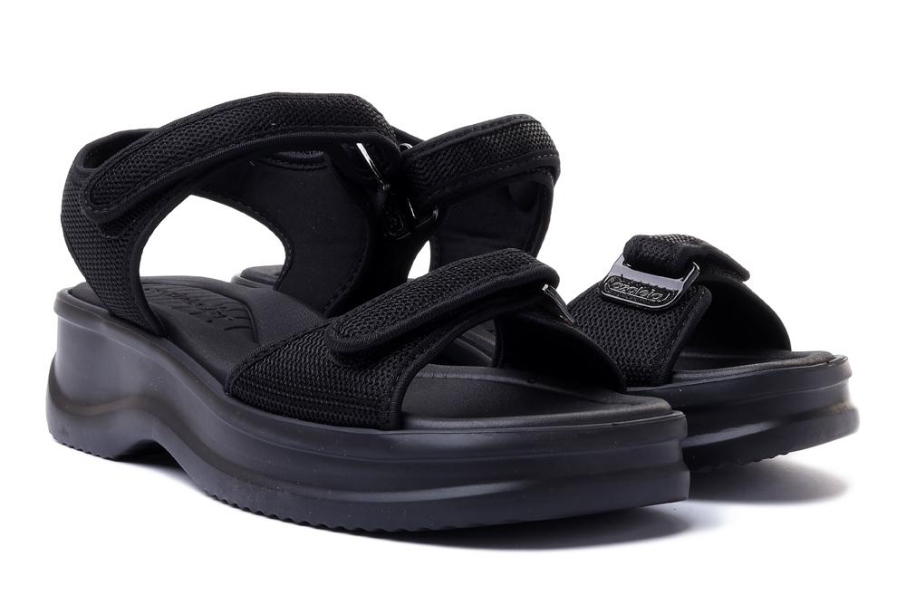 AZALEIA 18451 VERA THERAPY PAP AD 90142 black, sandały damskie, sklep internetowy e-kobi.pl