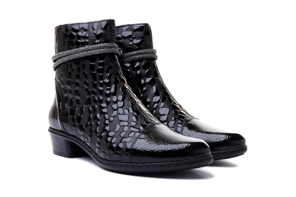 RIEKER Y0767-00 black, botki damskie, sklep internetowy e-kobi.pl