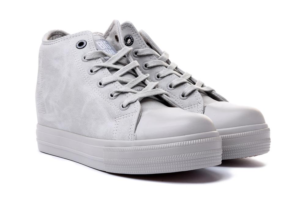 BIG STAR II274093 szary,  trampki/sneakersy damskie, sklep internetowy e-kobi.pl