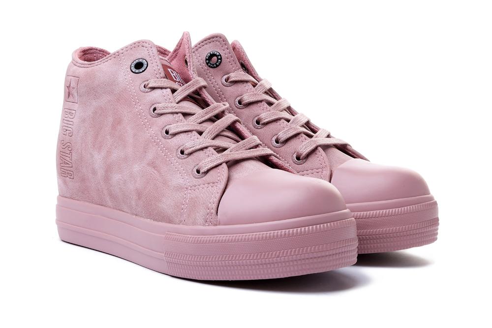 BIG STAR II274092 róż,  trampki/sneakersy damskie, sklep internetowy e-kobi.pl