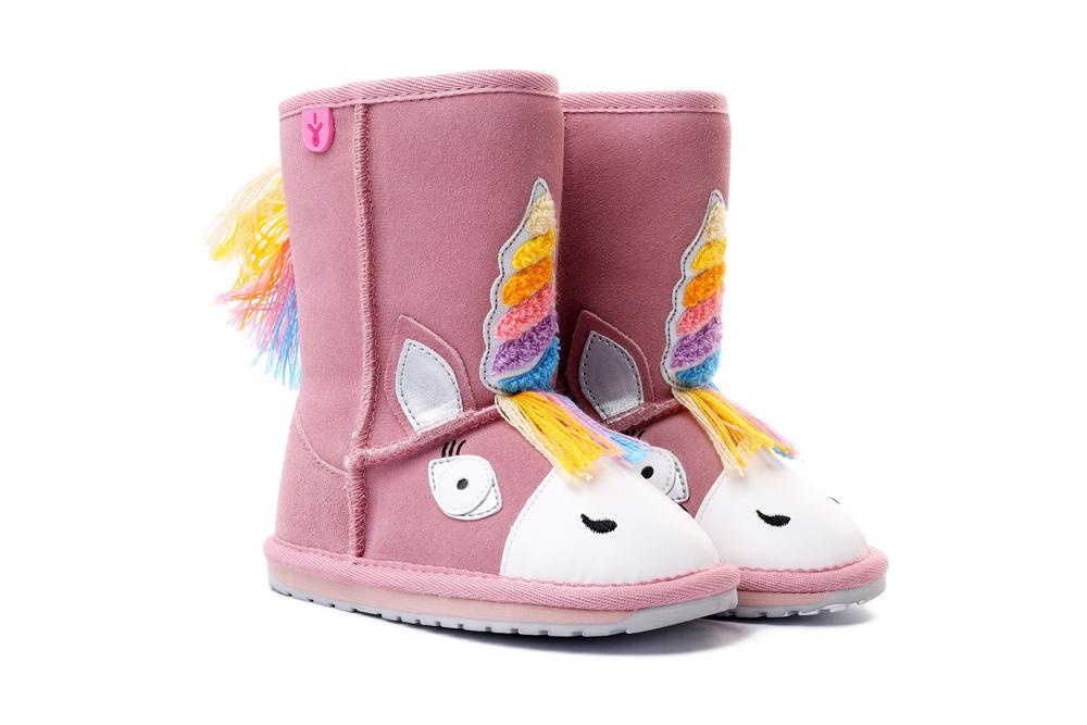 EMU AUSTRALIA K12408 MAGICAL UNICORN pale pink, kozaki dziecięce, rozmiary 24-31, sklep internetowy e-kobi.pl