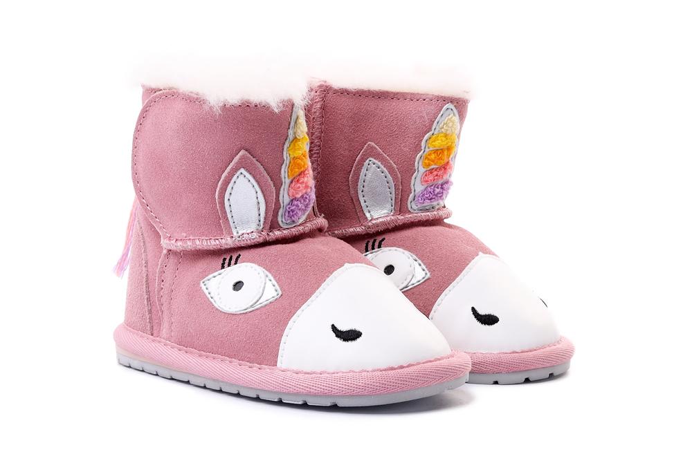 EMU AUSTRALIA B12409 MAGICAL UNICORN WALKER pale pink, kozaki dziecięce, rozmiary 20-23, sklep internetowy e-kobi.pl