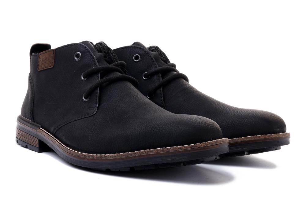 RIEKER B1340-01 black, trzewiki męskie, sklep internetowy e-kobi.pl