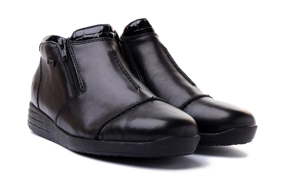 RIEKER TEX 58491-00 black, botki damskie, sklep internetowy e-kobi.pl