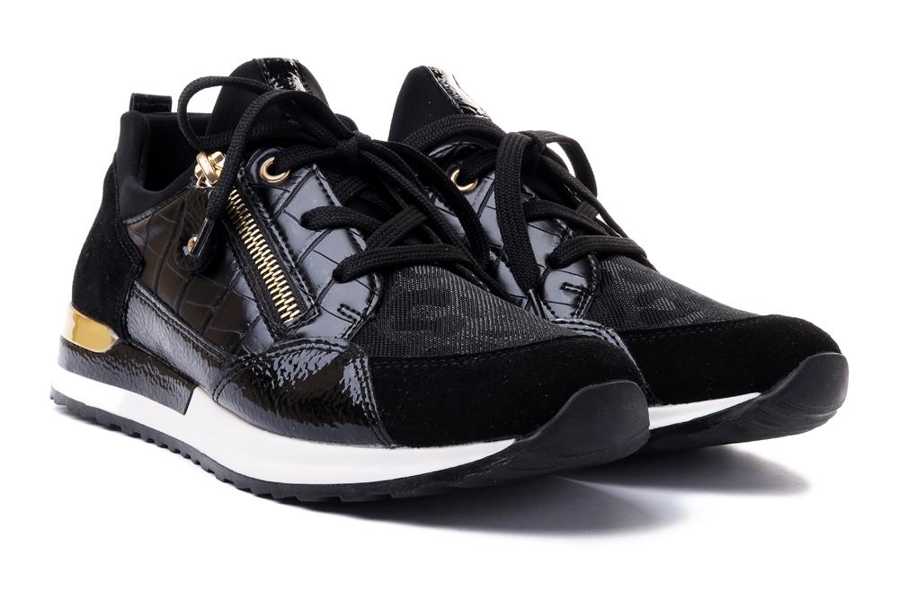 RIEKER REMONTE R2529-01 black, półbuty/sneakersy damskie, sklep internetowy e-kobi.pl
