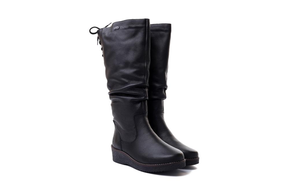 RIEKER TEX Y4693-00 black, kozaki damskie, sklep internetowy e-kobi.pl