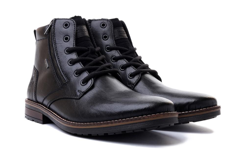 RIEKER TEX 33212-00 black, trzewiki męskie, sklep internetowy e-kobi.pl