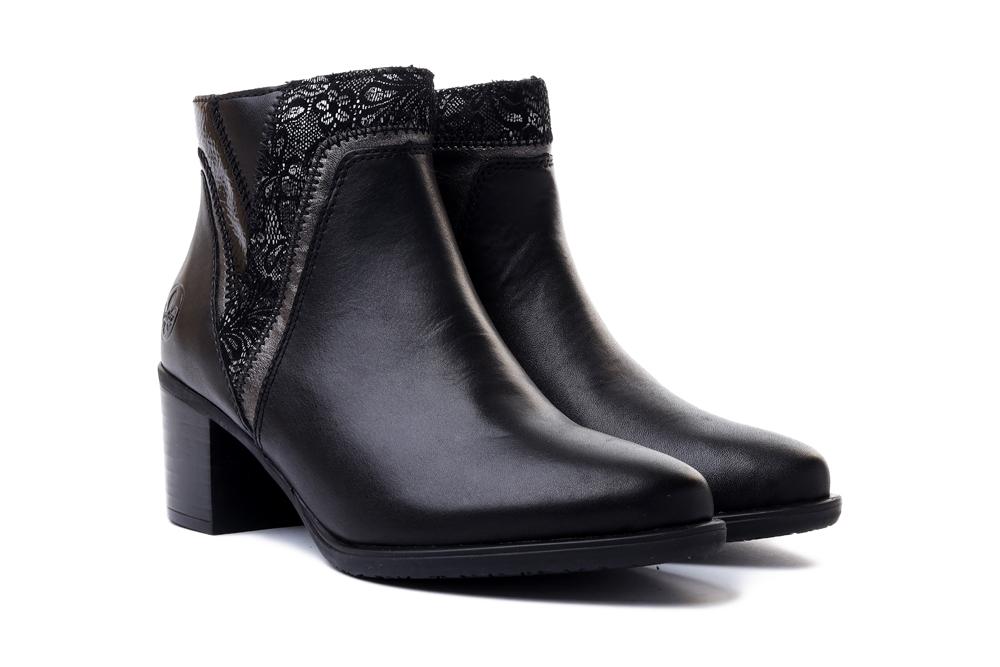 RIEKER Y2063-00 black combination, botki damskie, sklep internetowy e-kobi.pl