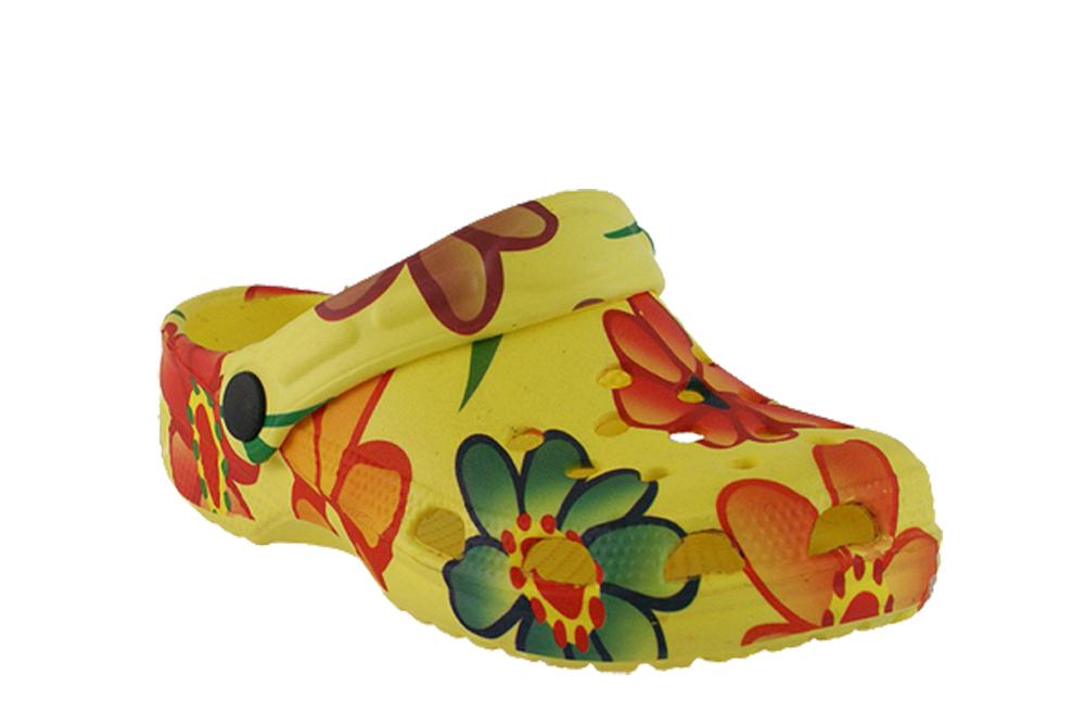 ASYLUM AI-518-31-10 żółty, croksy, klapki dziecięce,  rozmiary: 31-35, sklep internetowy e-kobi.pl