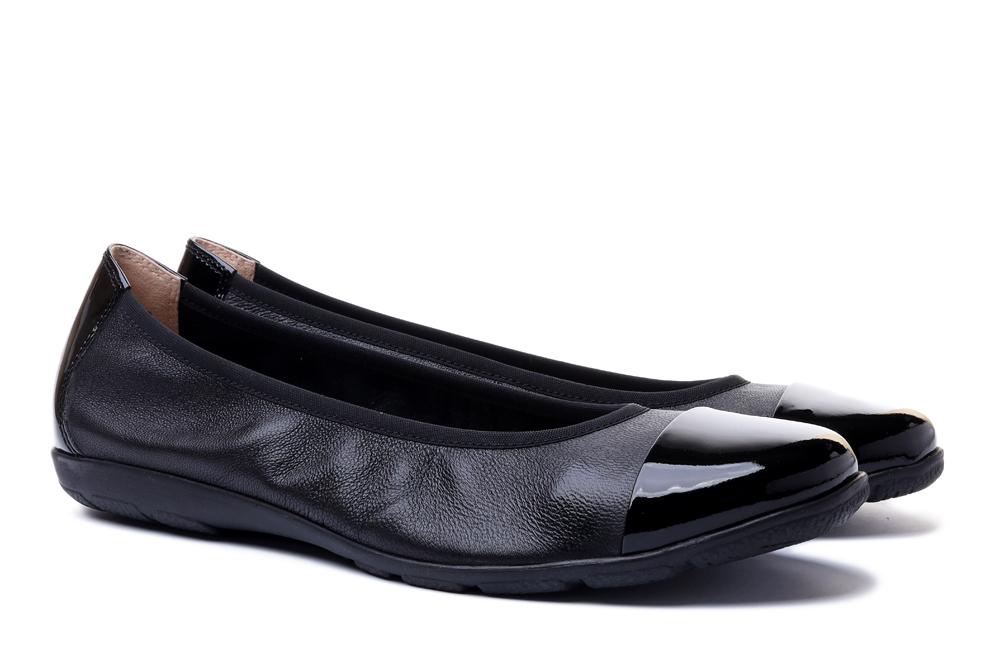 CAPRICE 22152-26 black nappa/patent, baleriny damskie, sklep internetowy e-kobi.pl
