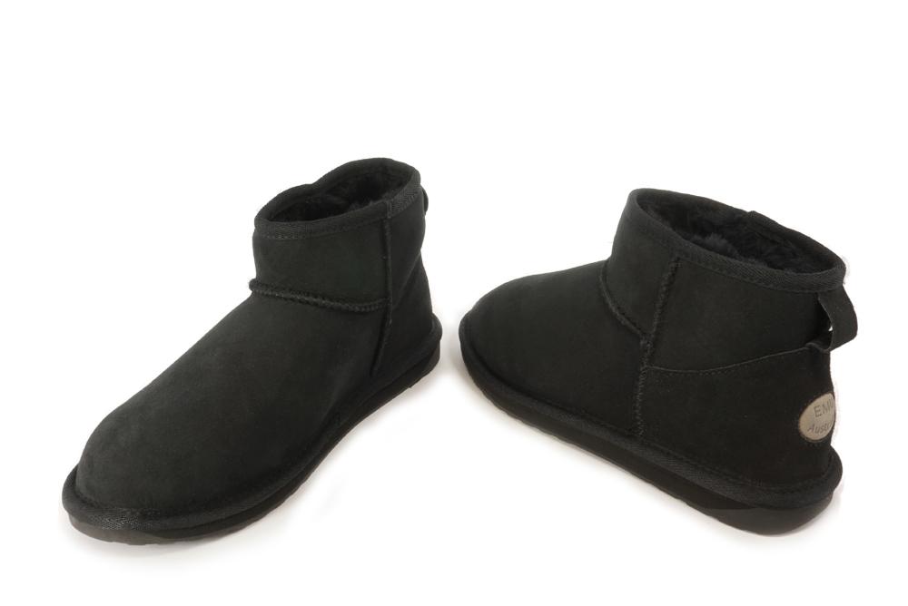 EMU AUSTRALIA W10937 STINGER MICRO black, botki damskie, sklep internetowy e-kobi.pl