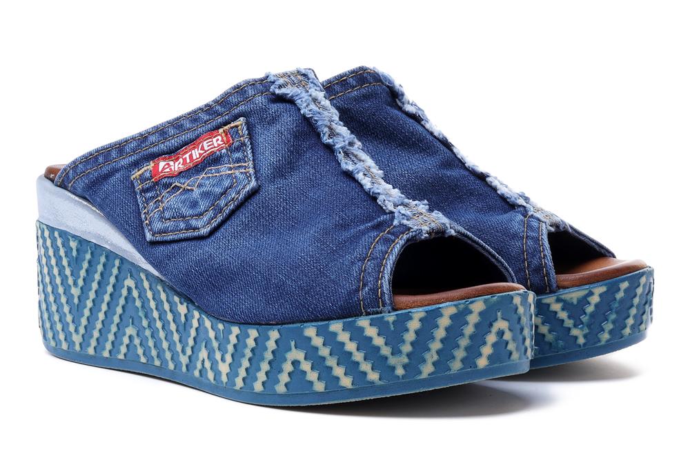 LANQIER 42C266 jeans, klapki damskie, sklep internetowy e-kobi.pl