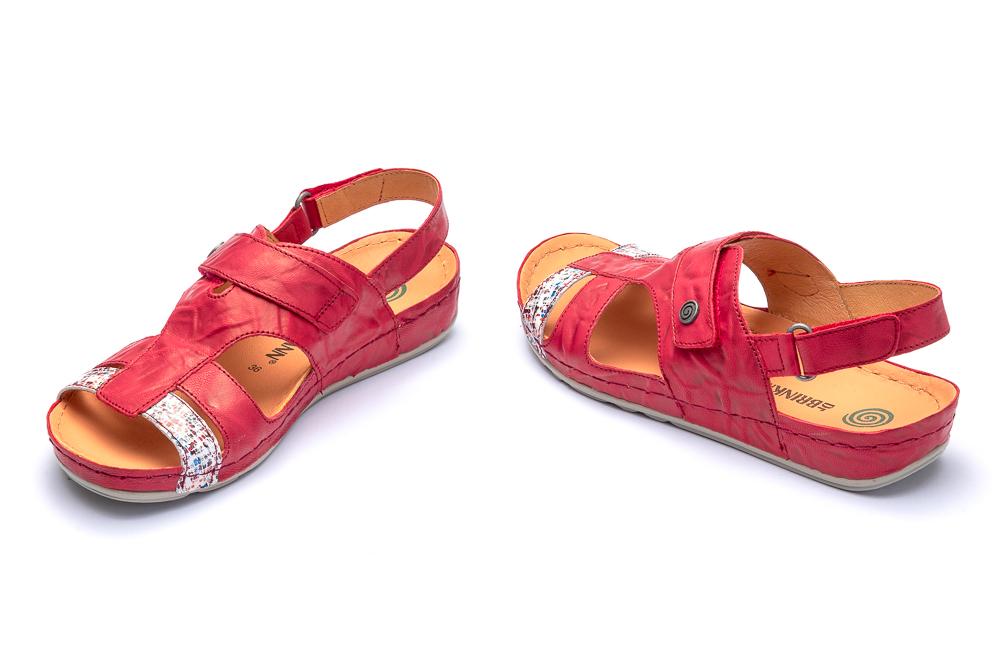 DR. BRINKMANN 710960-4 rot, sandały damskie, sklep internetowy e-kobi.pl