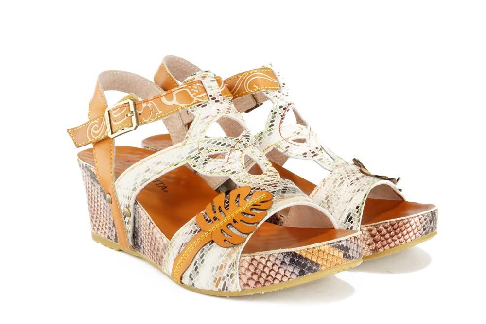 LAURA VITA FACDIAO 13 SL80403 13A beige, sandały damskie